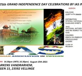75TH GRAND IAS INDEPENDENCE DAY CELEBRATIONS IN SKÅNE